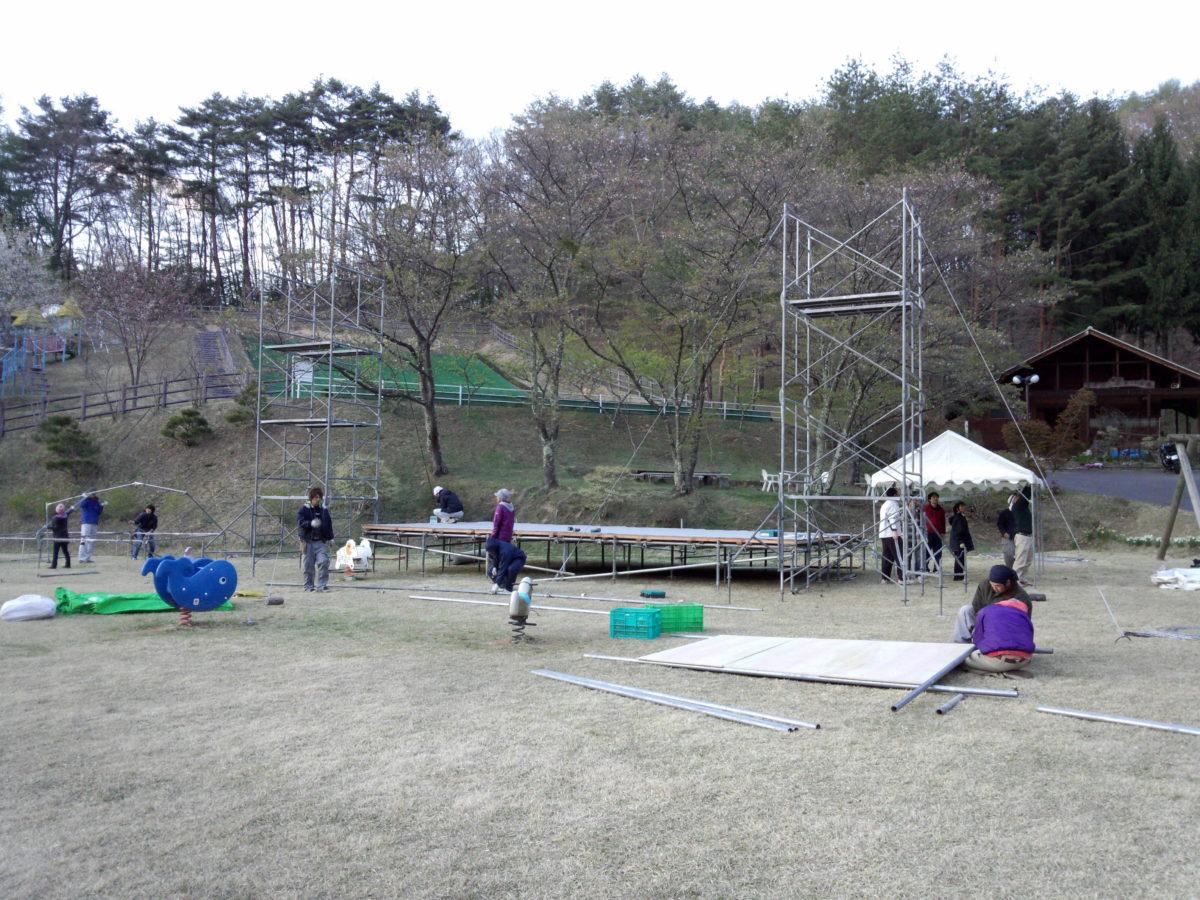 筑北村Re Forest Camp 2013 の会場へ