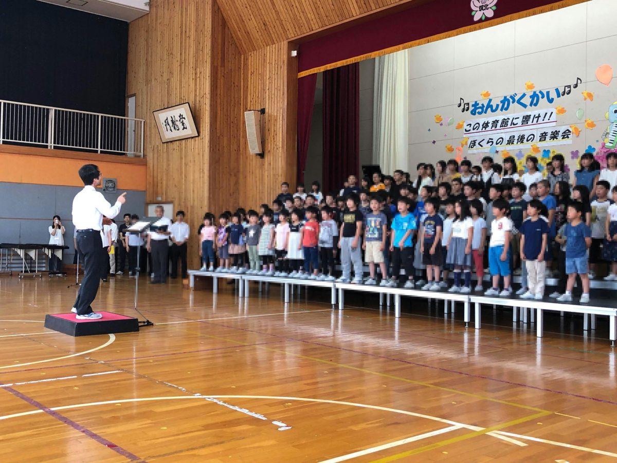 筑北小学校音楽会に招いていただきました